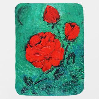 Manta De Bebe conversas roses