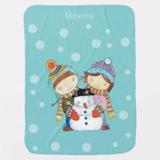Manta De Bebe Crianças de Christmastime & cobertura do bebê do
