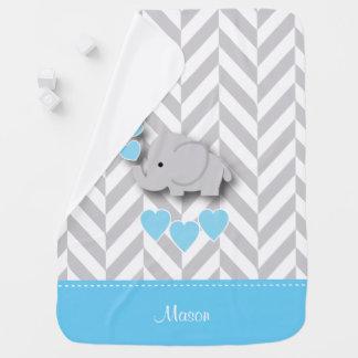 Manta De Bebe Design do elefante dos azuis bebés