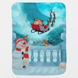 Manta De Bebe Design do Natal, Papai Noel