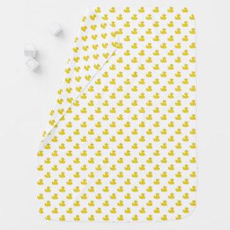 Manta De Bebe | Ducky de borracha amarelo algum fundo da cor