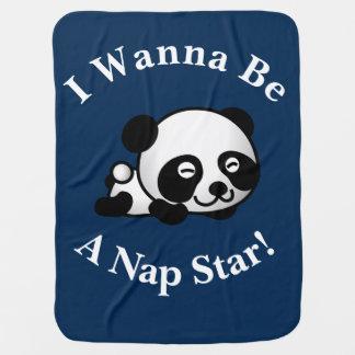 Manta De Bebe Eu quero ser um design do urso de panda de