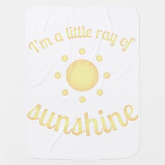 """Manta De Bebe """"Eu sou um raio cobertura do bebê da luz do sol"""