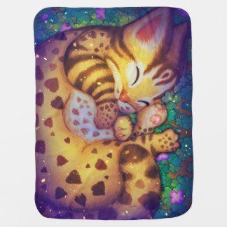 Manta De Bebe gato de leopardo da noite da noite