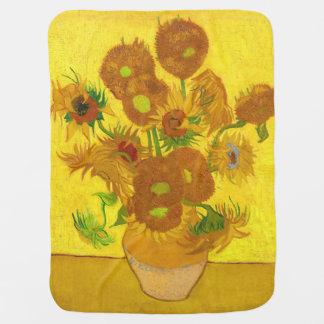Manta De Bebe Girassóis de Van Gogh quinze em umas belas artes