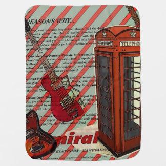 Manta De Bebe Guitarra elétrica do rolo vermelho da rocha n da