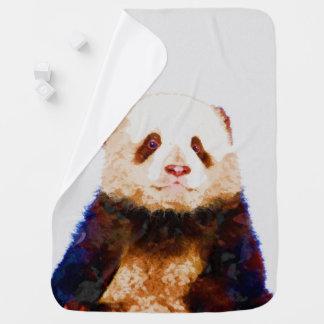 Manta De Bebe Impressão do berçário da aguarela da panda do bebê