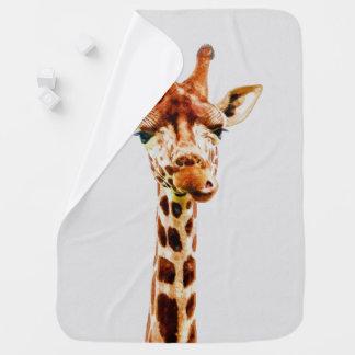 Manta De Bebe Impressão do berçário da aguarela do girafa do