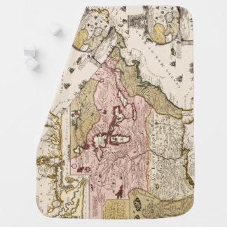 Manta De Bebe Mapa francês medieval América de Quebeque/France