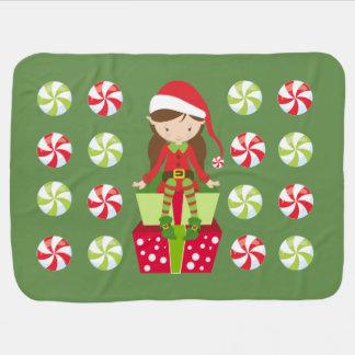 Manta De Bebe Natal do esmagamento dos doces