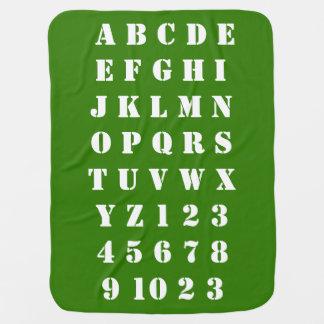 Manta De Bebe Números dos alfabetos das crianças do bebê dos
