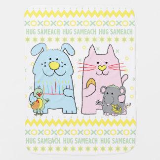 """Manta De Bebe O """"abraço geral Sameach/"""" do bebê personaliza"""