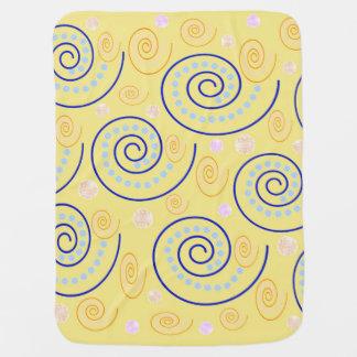 Manta De Bebe O abstrato roda no amarelo