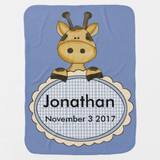 Manta De Bebe O girafa personalizado de Jonathan