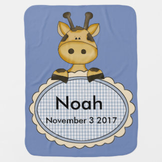Manta De Bebe O girafa personalizado de Noah