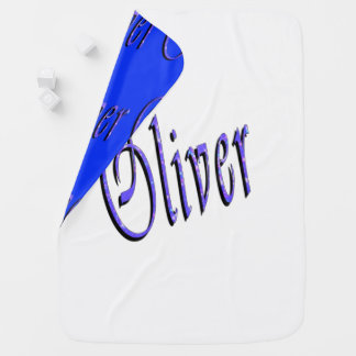 Manta De Bebe Oliver, nome, logotipo, do Reversible cobertura do