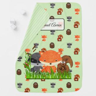 Manta De Bebe Os animais da floresta personalizaram a cobertura