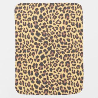 Manta De Bebe Padrões da pele animal do impressão do leopardo
