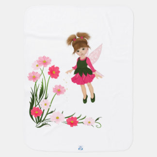 """Manta De Bebe PetitRose """"pouca fada da flor"""", cobertura do bebê"""