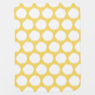 Manta De Bebe Pontos asiáticos amarelos pálido de Ikat dos