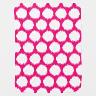 Manta De Bebe Pontos asiáticos cor-de-rosa de Ikat dos humores