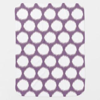 Manta De Bebe Pontos asiáticos violetas de Ikat dos humores