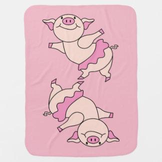 Manta De Bebe Porco do balé