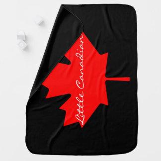 Manta De Bebe Pouca cobertura vermelha canadense da folha de