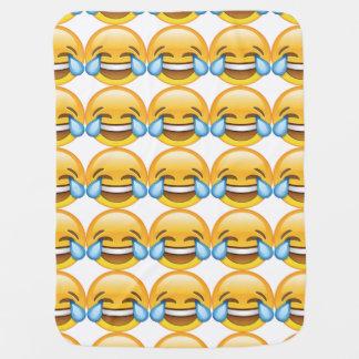 Manta De Bebe Rasgos de grito de riso do emoji da alegria
