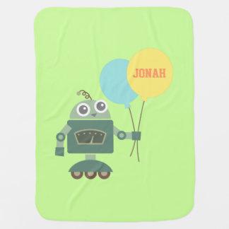 Manta De Bebe Robô bonito com os balões para bebês