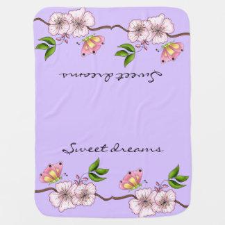 Manta De Bebe Sonhos doces do Lilac do país