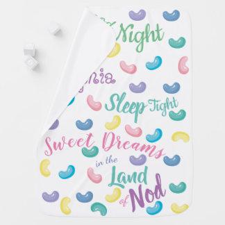 Manta De Bebe Sonhos doces personalizados dos doces