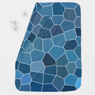 Manta De Bebe Teste padrão azul à moda moderno