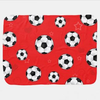 Manta De Bebe Teste padrão vermelho da bola de futebol