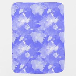 Manta De Bebe teste padrão violeta das manchas da aguarela