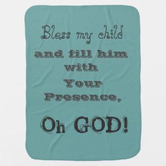 Manta De Bebe Uma cobertura da bênção