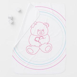 Manta De Bebe Urso cor-de-rosa do bebê - menina