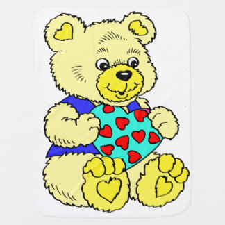 Manta De Bebe Urso de ursinho amarelo colorido