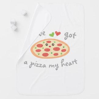 Manta De Bebe You've obteve a uma pizza meu coração chalaça