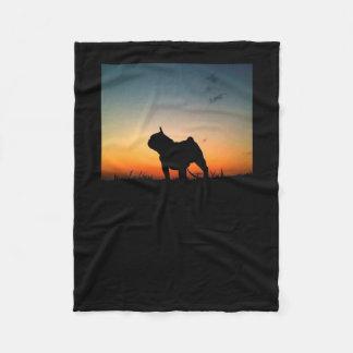 """Manta de lã """"Desenho Buldog"""" Cobertor De Velo"""