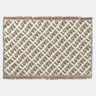 Manta Decorativo dourado elegante da palavra do texto do