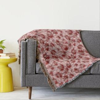Manta Design abstrato vermelho & cor-de-rosa bonito