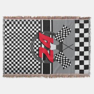 Manta Design de competência Checkered preto e branco