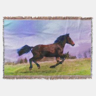 Manta Equestrian ocidental de funcionamento do potro do