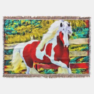 Manta Equestrian ocidental do grande cavalo colorido