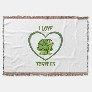 Manta Eu amo tartarugas