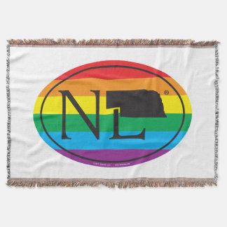 Manta Euro do orgulho do estado de LGBT: NE Nebraska