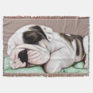 Manta Filhote de cachorro do buldogue do sono