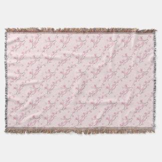 Manta Flor de cerejeira - rosa