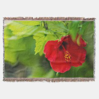 Manta Flor tropical de Havaí do hibiscus vermelho